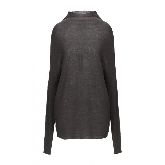 Image for Rick Owens Steel grey Virgin Wool Pullover