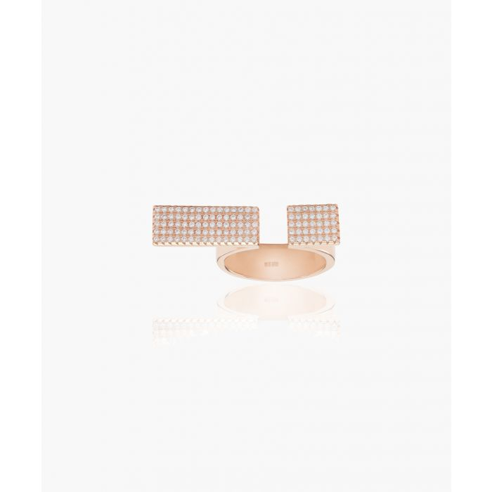 Image for Bacoli Due rose-plated ring