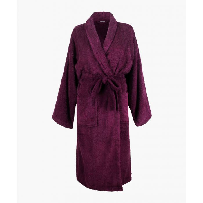 Image for Purple Egyptian cotton bath robe