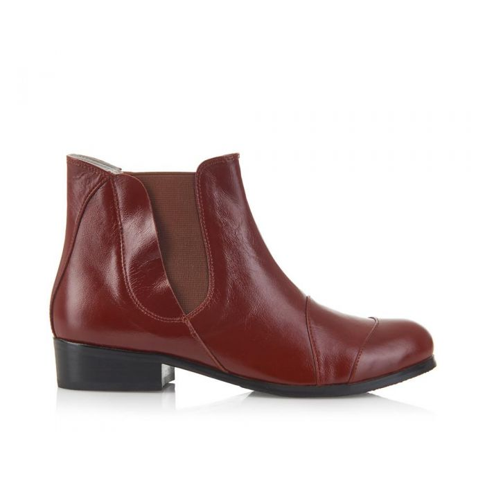 Image for Fulham auburn leather boots