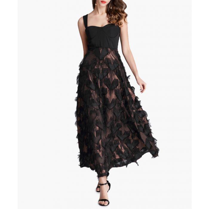 Image for Black sleeveless heart sheer dress