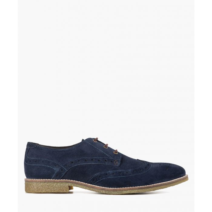 Image for Navy suede brogues