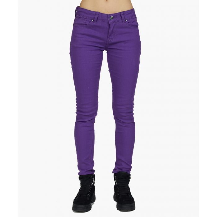 Image for purple pure cotton skinny jeans