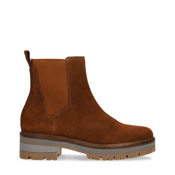 Image for Burnt orange leather heavy chelsea boots