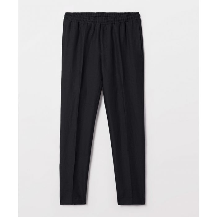 Image for Black pure linen trousers