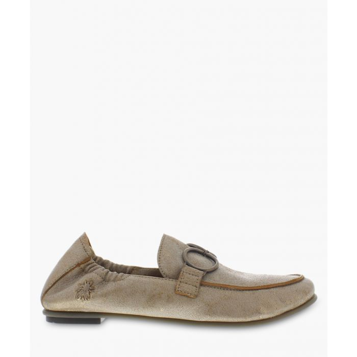 Image for taupe leather ring moccasins