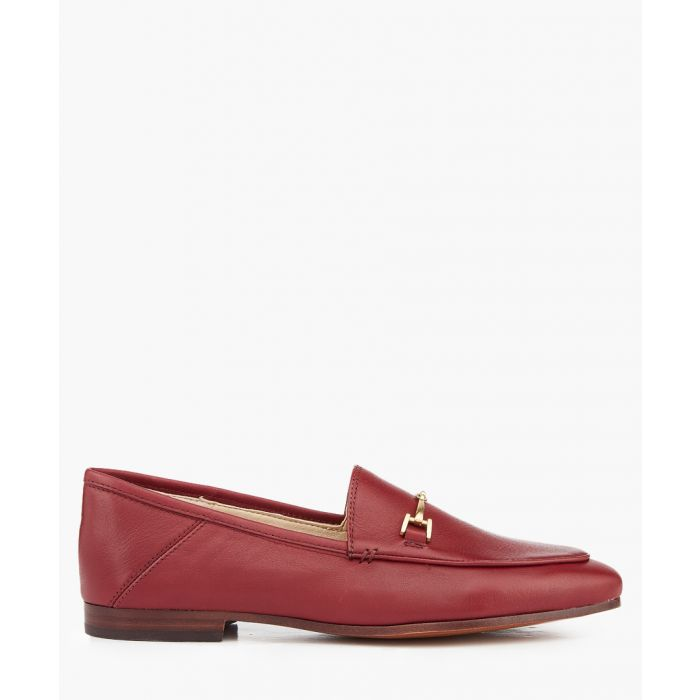 Image for Loraine beet red laether loafers