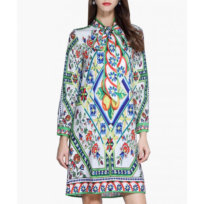 Image for Spring brocade long sleeve dress