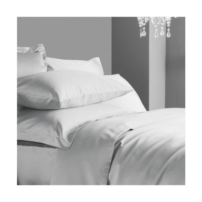 Image for 600 Thread Count Flat Sheet - Ice Grey
