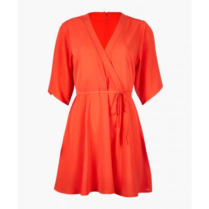 Image for Dusty orange wrap dress