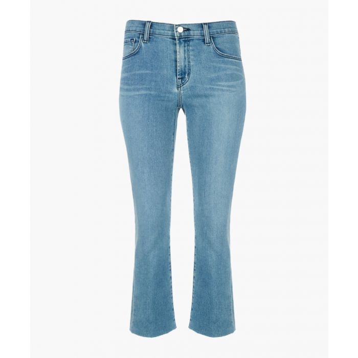 Image for Selena mid-rise crop bootleg jeans