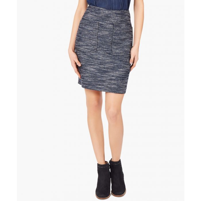 Image for Clover blue tweed mini skirt