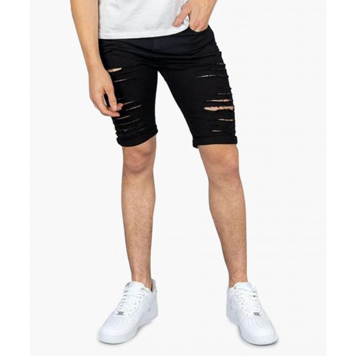 Image for Camden black ripped denim shorts