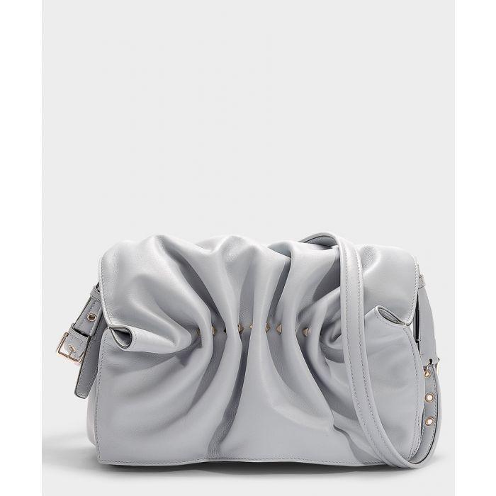 Image for Bloomy blue leather shoulder bag