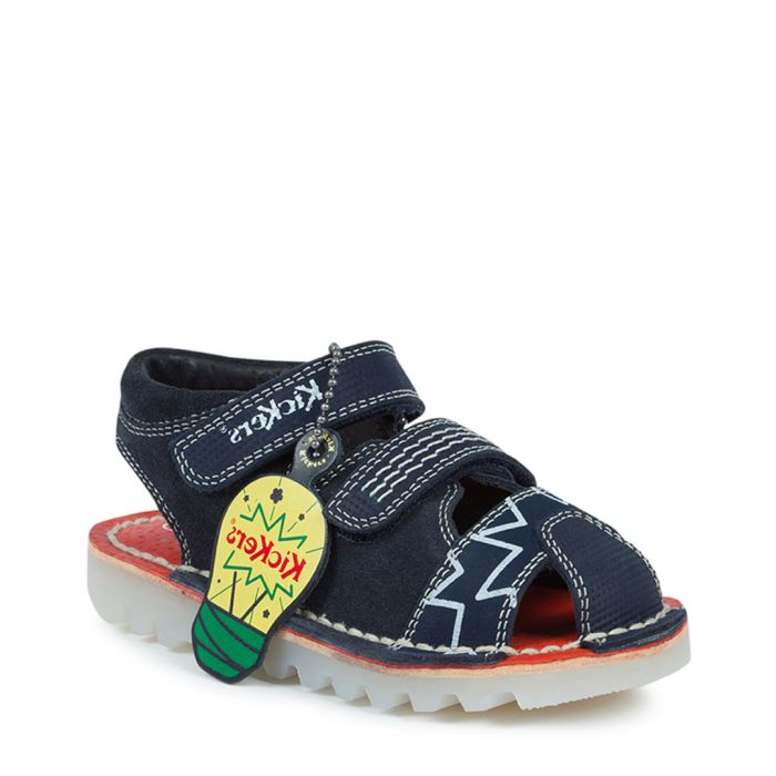 Image for Kick glow navy suede sandals