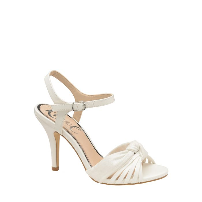 Image for White knot peep toe heels