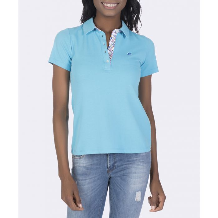 Image for Blue pure cotton polo shirt
