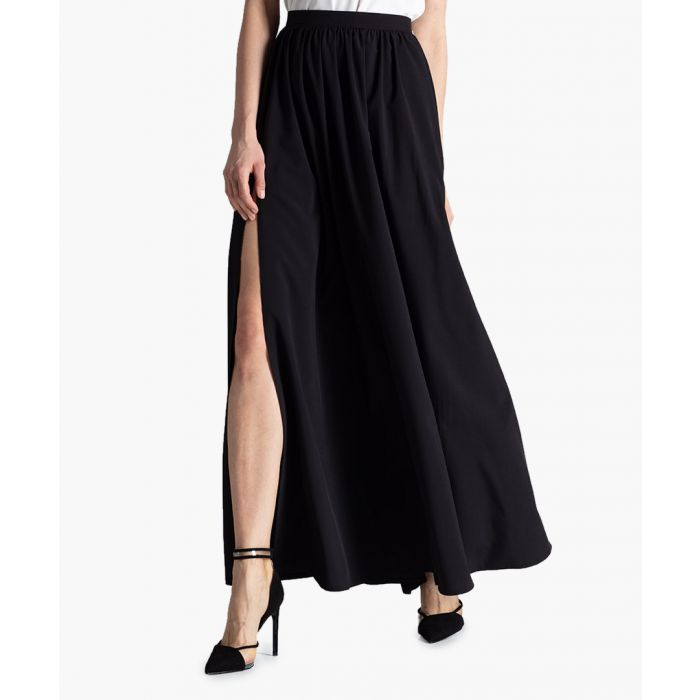 Image for Black split maxi skirt