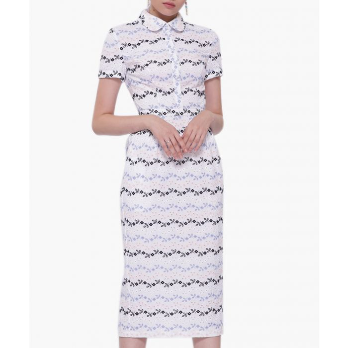 Image for Multi-colour collar print dress