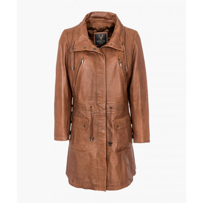 Image for Womens tan classic parka
