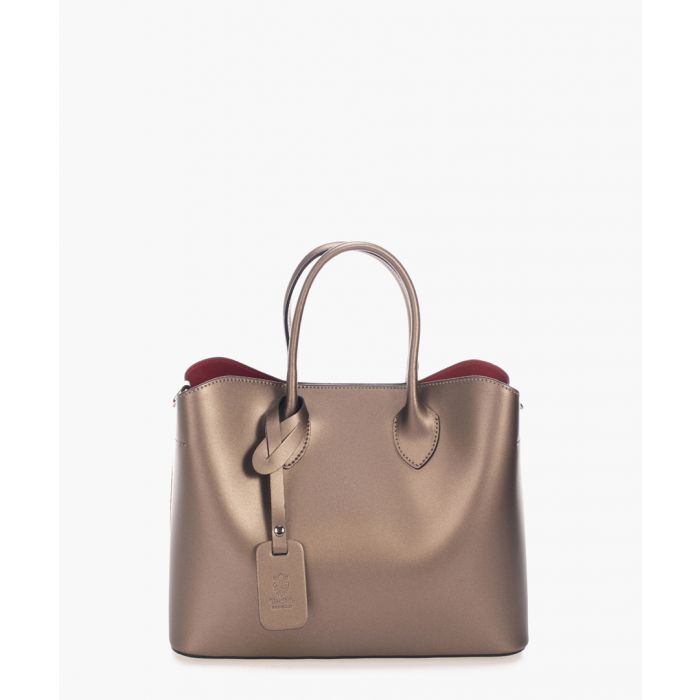 Image for Latisana camel leather shopper