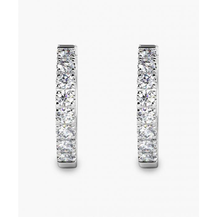 Image for 9k white gold and 0.30ct diamond hoop earrings