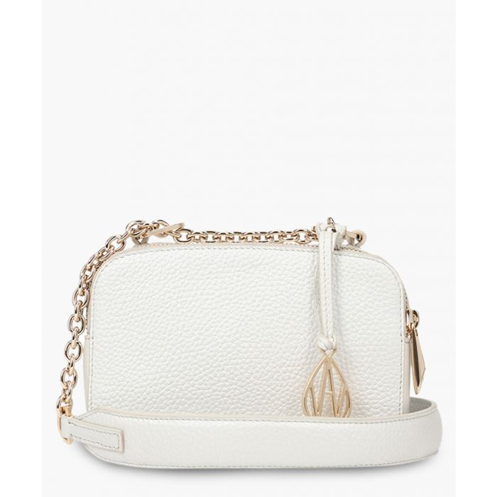 Image for Chain Bowie grey leather crossbody
