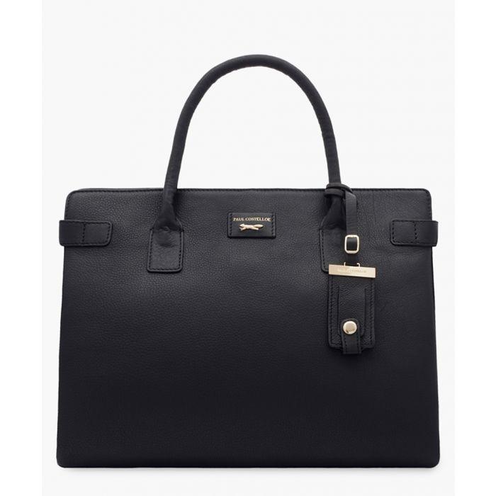 Image for Etichetta Mini Day black leather shopper