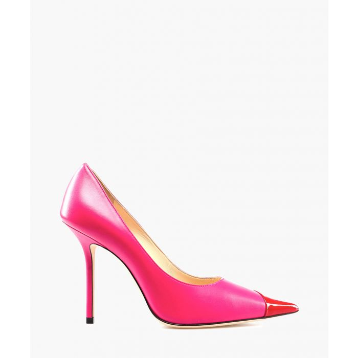 Image for Love 85 hot pink and red leather pumps