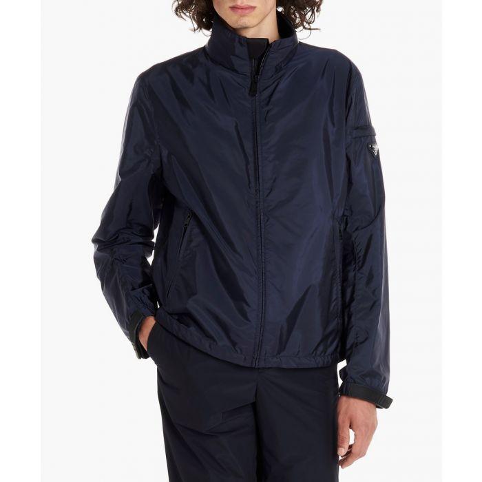 Image for Blue lightweight high-neck jacket
