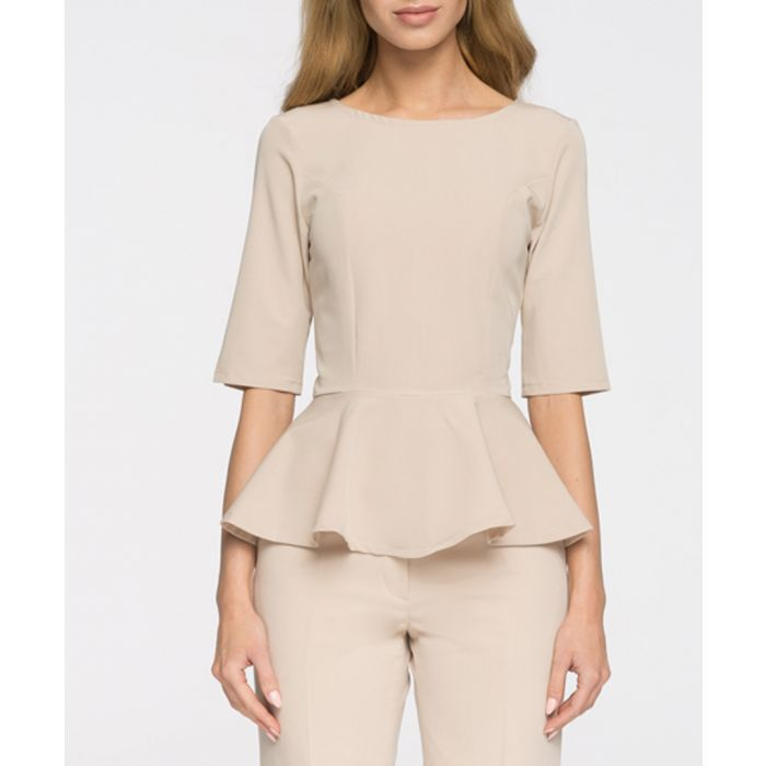 Image for Beige fluted blouse