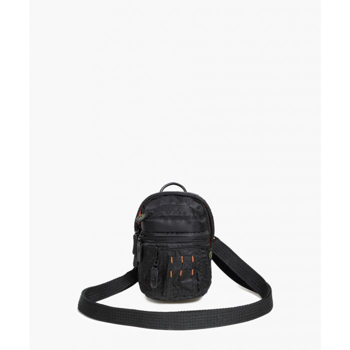 Image for Black leather trim crossbody