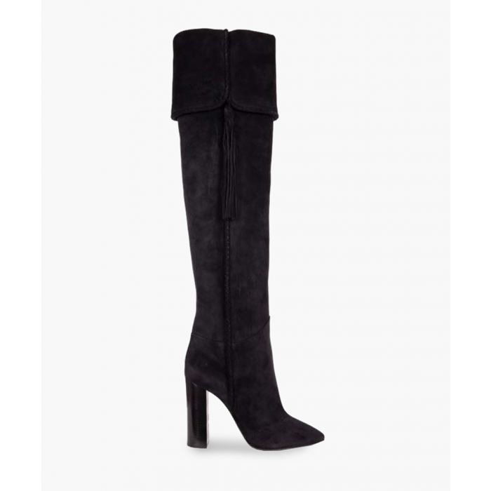 Image for Maurice black suede thigh-high boots