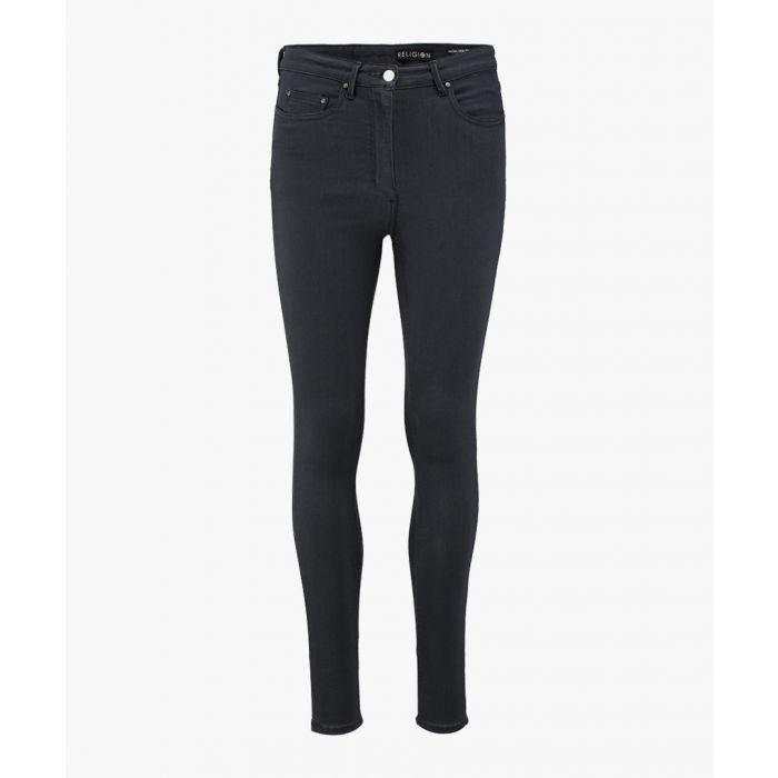 Image for Dark grey sacral high waisted skinny jeans