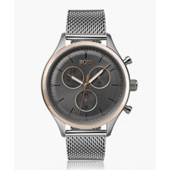 Image for Silver-tone quartz steel mesh watch