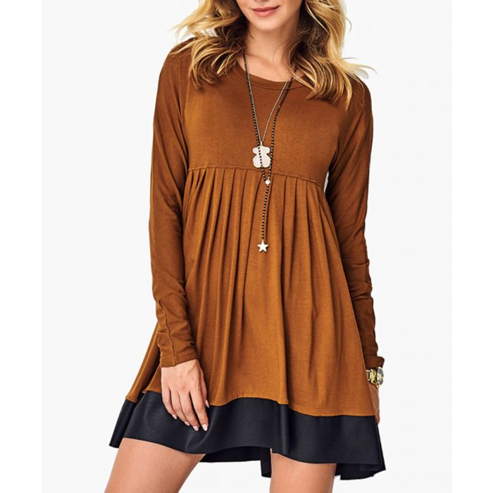 Image for Camel Knitted Dress