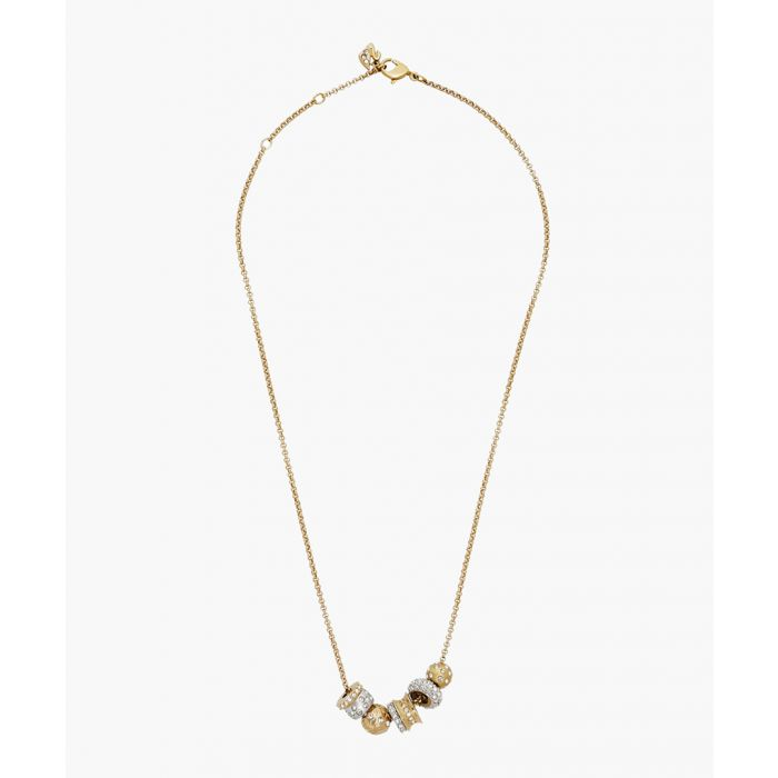Image for Silver and gold-plated cubic zirconia necklace