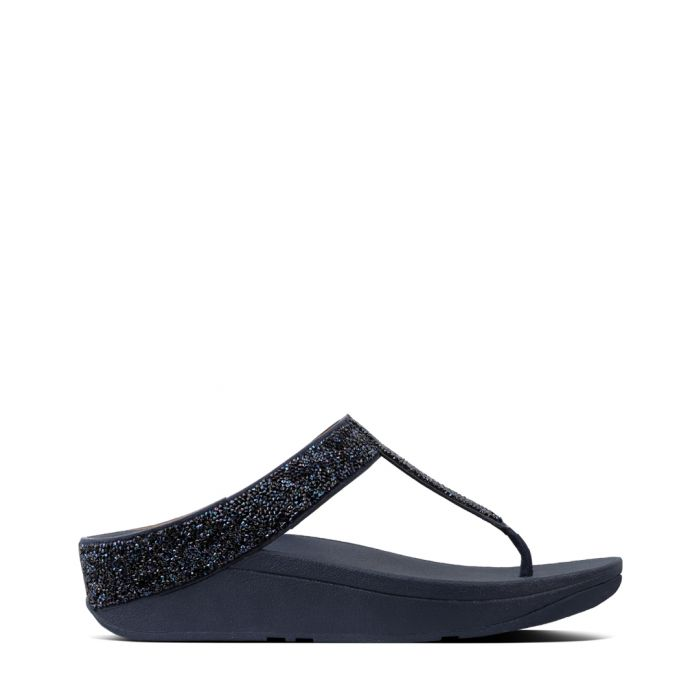 Image for Fino Quartz midnight faux-leather sandals