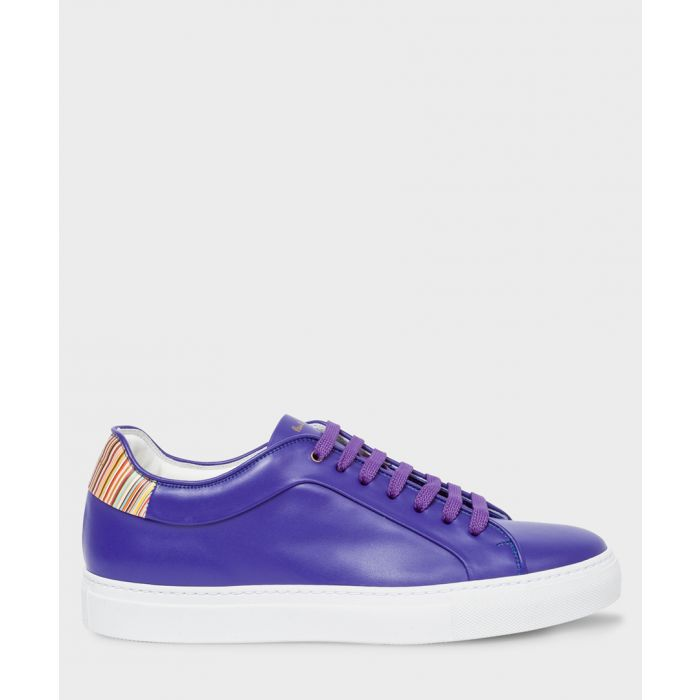 Image for Cobalt blue leather sneakers