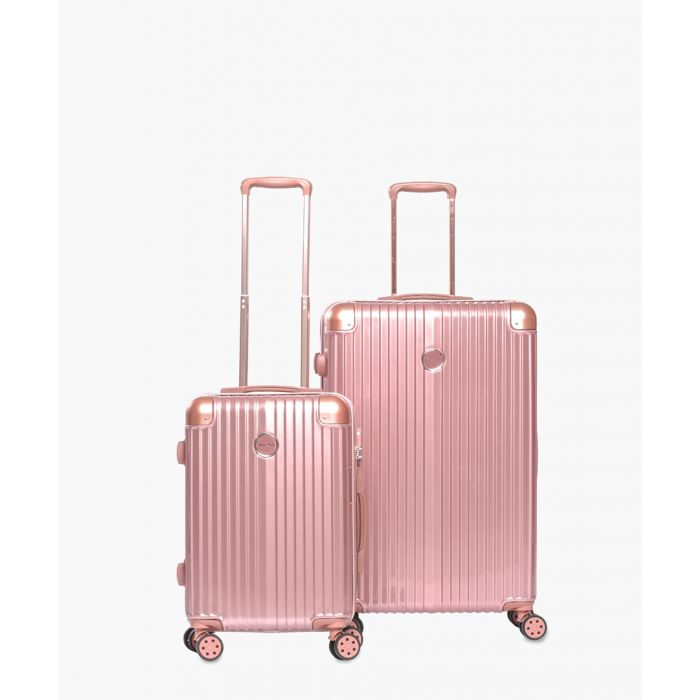 Image for 2pc rose gold-tone suitcase set