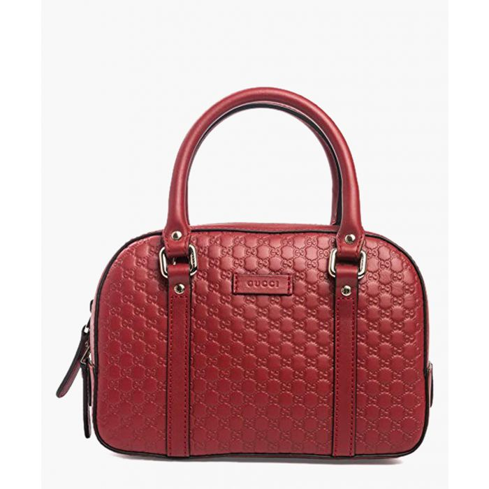Image for Red Microguccissima leather 2Way  tote