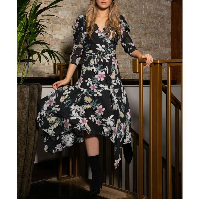 Image for Peeta floral wrap dress