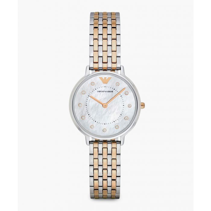 Image for AR2508 rose-gold and silver-tone stainless steel watch