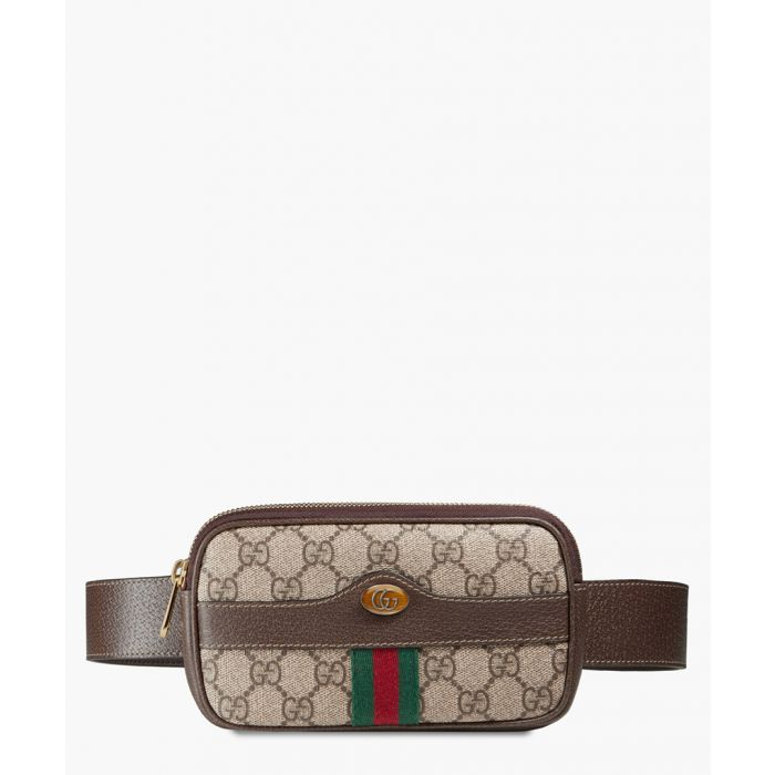 Image for Gucci GG Supreme Ophidia belted small bag Pouches
