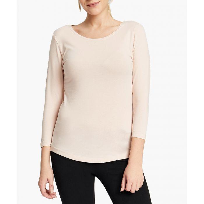 Image for Rose cotton blend t-shirt