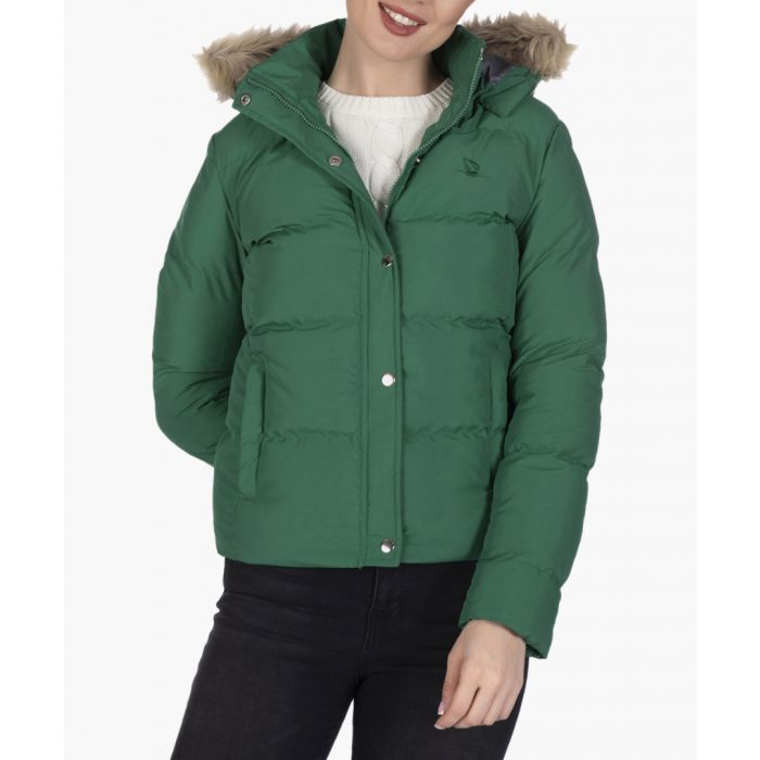 Image for Green cotton coat