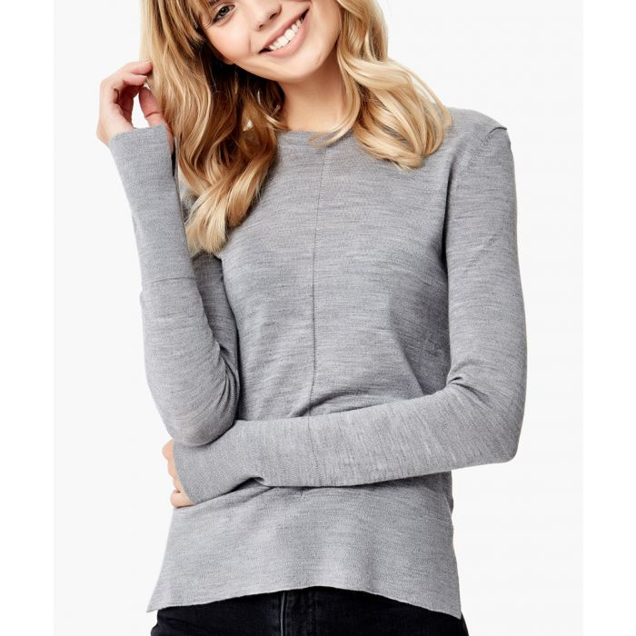 Image for Grey merino wool pullover