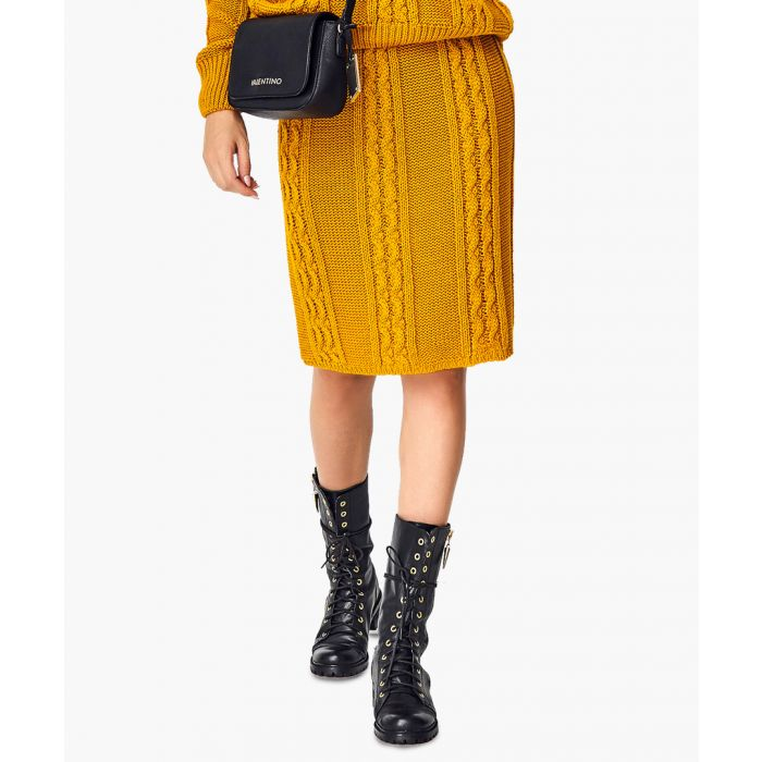 Image for Mustard knitted sweater and skirt set