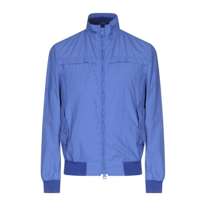 Image for Blue cotton single-breasted jacket