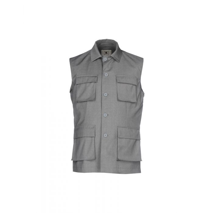 Image for Grey wool blend single-breasted jacket